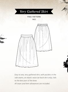 Pattern Runway: {Free Pattern} -Very Gathered Skirt