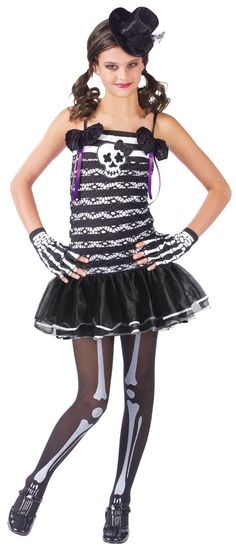 cheer costumes for teens | ... Costumes  Skeleton Costumes  Teen Girls Skeleton Sweetie Costume