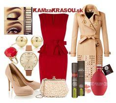 červené puzdrové šaty
