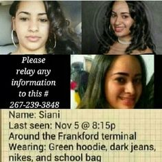 PENNSYLVANIA MISSING SINCE 11/5/13