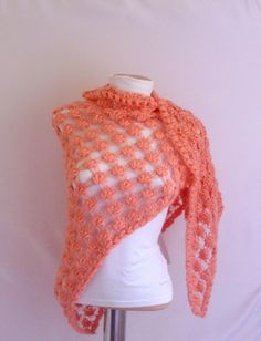 New salmon Color Dreams Shawls READY FOR SHIP
