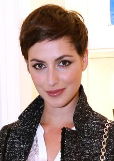 Celebrities in Short, Edgy Hairstyles: Actress Clemence Thioly's Boyish Pixie Cut
