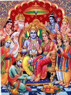 Rama Sita Pattabhishekam (via Star Sai) Shree Ram Images, Shri Ram Photo, Lord Sri Rama, Hanuman Photos, Rama Sita, Shri Hanuman, Durga, Krishna Radha, Lord Rama Images