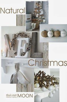 thuis met Moon Natural Christmas, Christmas Wood, Scandinavian Christmas, Christmas Pictures, White Christmas, Christmas Crafts, Christmas Decorations, Christmas Morning, Christmas Holidays