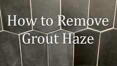 So, you've just had your new tile installed and a day or two later you find a dull haze or light streaks on the tile. What you are seeing is grout haze that has been left on the tile from the installation. We have a few tips for you on what to do.
