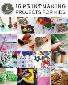 Kids Crafts, Craft Activities For Kids, Toddler Crafts, Toddler Activities, Projects For Kids, Diy For Kids, Kids Printmaking, Ideas Geniales, Preschool Art