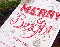 Merry and Bright by Jasen Melnick, via Behance