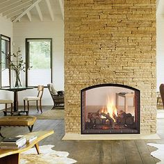 see through fireplace designs | Heat & Glo Escape See-Through Gas Fireplace - Wood Heat