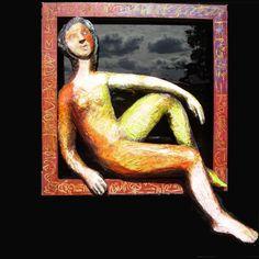 papier mâché *VENDU Painting, Art, Wood, Cherry Tree, Paper Mache, Art Background, Painting Art, Kunst, Paintings