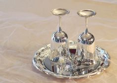 Reduced Price  Silver Plate Champagne Toasting by PearlsParlor