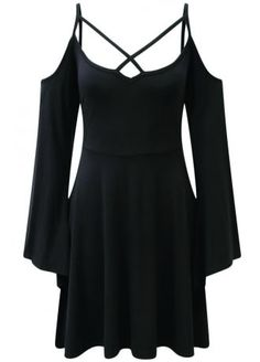 Killstar Séance Angel Sleeve Skater Dress , £39.99 Clothing, Shoes & Jewelry : Dresses for Women, Girls & Baby Girls : Women http://amzn.to/2lyOcr6