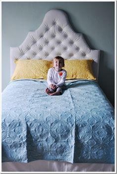 Tuffed headboard #tutorial Personalize it to customize your space! http://www.lowpricefabric.com/c-136-home-decor.aspx