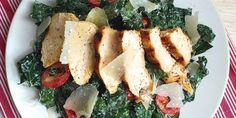 Kale Caesar Salad with Grilled Chicken - How to Make Kale Caesar Salad