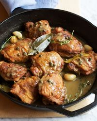 Made the other day - Ridiculously good. Zesty Braised Chicken with Lemon and Capers Recipe on Food & Wine