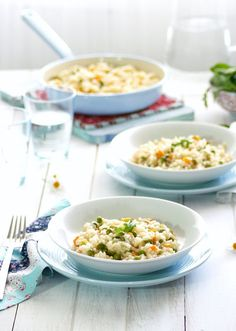 Risotto de Verduras Rice Recipes, Veggie Recipes, Couscous, Rice Dishes, Main Dishes, Quinoa, Easy Party Food, No Cook Meals, Food Photography