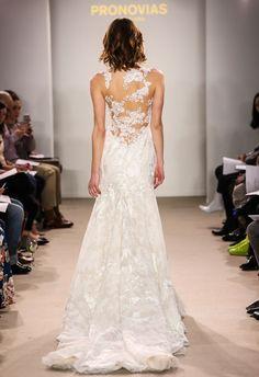 2018 Atelier Pronovias Preview Collection // modern illusion lace wedding dress