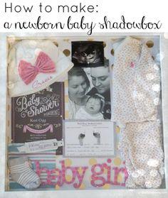 DIY newborn baby shadow box- Great ideas! | gracefulmommy.com