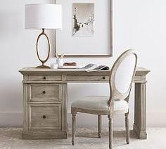 Francisco Draft Desk, Office Desk | Pottery Barn Media Furniture, Modular Furniture, Office Furniture, Upholstered Desk Chair, Bookcase Desk, Bookcases, Writing Desk With Drawers, Marble Desk, Reclaimed Wood Desk