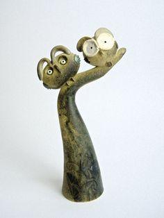 """""""Ramo con civette / Branch with owls"""" Ceramiche sonore / Sonorous ceramics"""