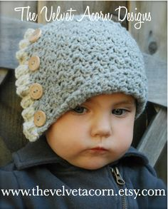This is a listing for The PATTERN ONLY for The Baby Jadyn Cloche  This hat is handcrafted and designed with comfort and warmth in mind... Perfect for layering through all the seasons...  This hat makes a wonderful gift and of course also something great for you or your little one to wrap up in!  All patterns written in standard US terms!  *Sizes are for 0/3-3/6-6/12 month *Any worsted weight yarn  ***You can always contact me if you have any problems with the pattern. I am happy to help if…