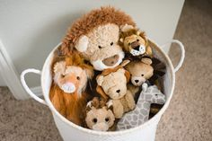 Look at that collection of wild safari animals! Good thing they're contained! (Wink!)