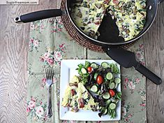 Healthier Potato Spinach Cheesy Frittata (215 calories, 5P+)