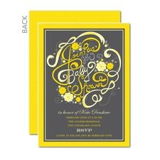 Blooming with Charm Baby Shower Invitations