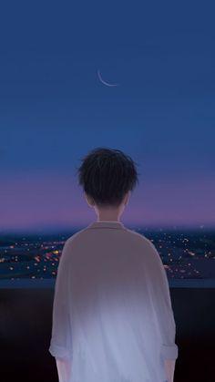 Trendy Ideas For Illustration Art Boy Wallpaper Animes, Anime Scenery Wallpaper, Galaxy Wallpaper, Cartoon Wallpaper, Animes Wallpapers, Cute Wallpapers, Screen Wallpaper, Phone Wallpapers, Wallpaper Quotes