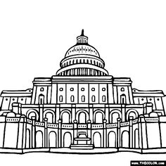 House Of Congress Building Coloring Page