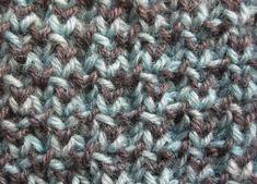 Kaksivärinen vohvelipatenttineulos | Punomo Knitting, Tricot, Breien, Stricken, Weaving, Knits, Crocheting, Yarns, Knitting Stitches