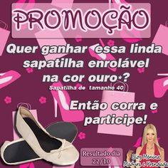 #  O Blog Menina  Madura e Prendada e Sapatilhas Enroláveis sortearão uma linda sapatilha.