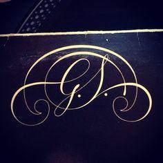 Typeverything.com  G.S. monogram on a Gloria Scott album from 1974.