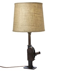 Vintage Car Jack Table Lamp