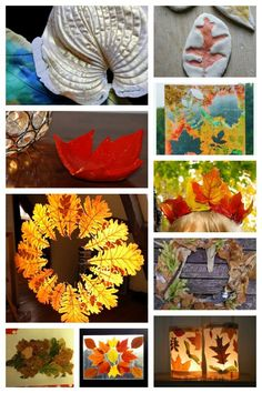 10 Fall Leaf Crafts for kids to make using real leaves