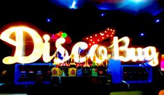 Here is a view of our Disco Bug light board... Its make such a impact at night time!  #partydecor #lightboard