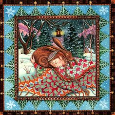 Winter Solstice / Yule / Christmas card Wendy Andrew