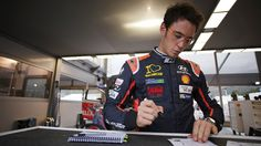 Belgian rally driver Thierry Neuville wearing customised MYKITA prescription frames. https://mykita.com/en/prescription-glasses