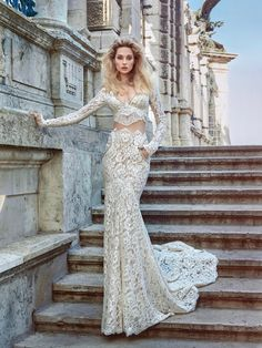 Two Piece Wedding Dress