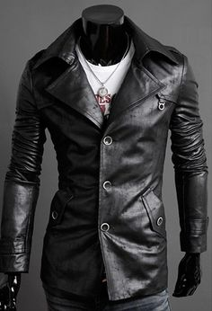 Rock star style - Stone Finish Fashion Jacket