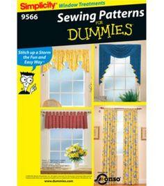 Simplicity Pattern 9566-Window Treatments-One Size