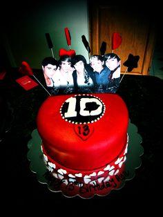 """One Direction"" Birthday Cake"