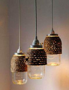 34 FABULOUS MASON JAR LIGHTS ~ Interior Design Inspirations for Small Houses