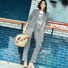 Lean back and show off your cool earring. Leandra Medine of Man Repeller wears Paige Novick for Tibi Single Sculpture Earring.
