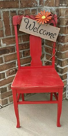 Red Welcome chair