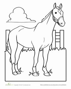 Worksheets: Horse Coloring Page