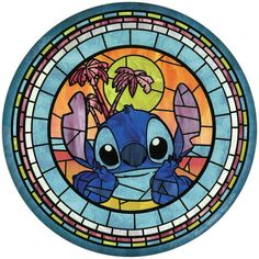 Collection featuring Disney Day Dresses, RED Valentino Tote Bags, and 98 other items Disney Stained Glass, Stained Glass Christmas, Stained Glass Art, Lilo Stitch, Goth Disney, Disney Art, Toothless And Stitch, Disney Quilt, Disney Cartoon Characters