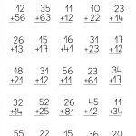 Addition no regroup English Worksheets For Kindergarten, 3rd Grade Math Worksheets, School Worksheets, 1st Grade Math, Math Literacy, Homeschool Math, Math Classroom, Preschool Learning, Teaching Math