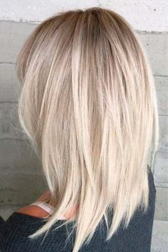 Medium Length Hair Cuts With Layers, Medium Hair Cuts, Medium Hair Styles, Short Hair Styles, Blonde Hair With Layers, Medium Length Bobs, Hair Layers, Haircuts For Fine Hair, Haircut For Thick Hair