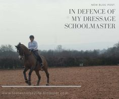 Tuesday thoughts! In defence of my dressage school master