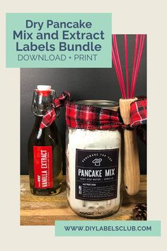 Pancakes are a favorite any time of day or year, and with Sibyl Smith of DIY Labels Club's ultimate dry pancake mix recipe and extract labels bundle you'll be prepared anytime you're in the mood for pancakes. Head to the Etsy shop to grab your pancake mix and extract label bundle for when the pancake craving strikes you! Diy Gifts For Mothers, Mother Gifts, Summer Diy, Summer Crafts, Tasty Pancakes, Diy Holiday Gifts, Diy Videos, Gift Cards, Bath And Body